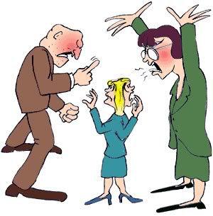 parents shouting at child