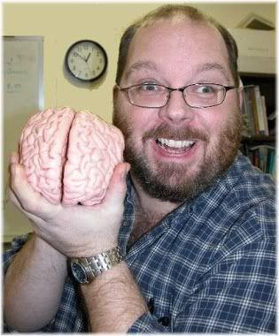 man holding brain