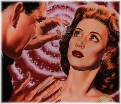 woman being hypnotized