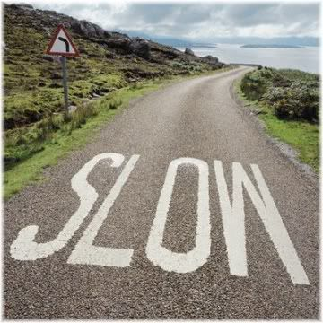 slow sign on road