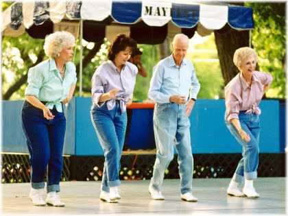 senior citizens dancing
