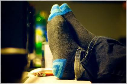 feet on desk