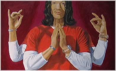 man meditate four arms