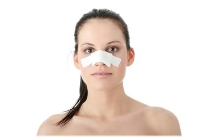 woman with nose bandage