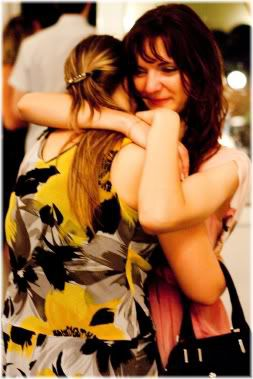 two women hugging