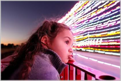 girl looking at lights