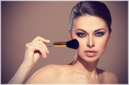 woman with foundation brush