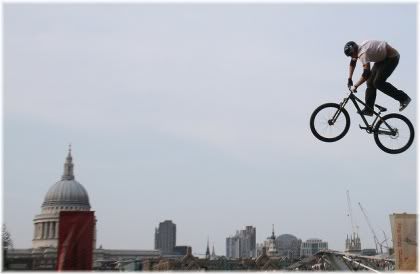 man on bike in air