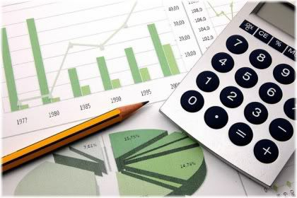 calculator and business chart