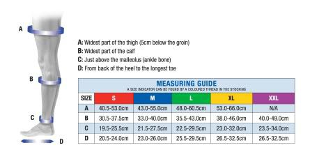 flight sock measuring guide