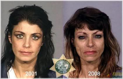 drug use woman before after