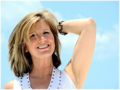 smiling woman middle age