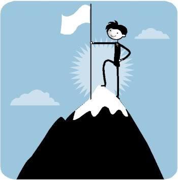 reach the top of mountain