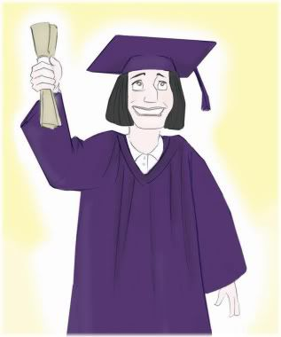 woman with degree