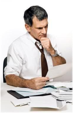 business man reading