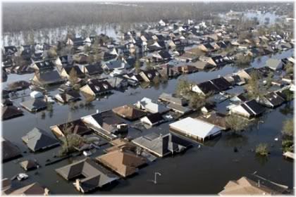 Hurricane Katrina Homes flooded