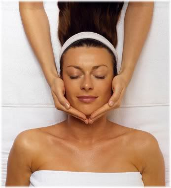 woman face massage