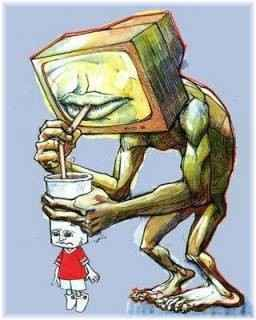 tv drinking brain
