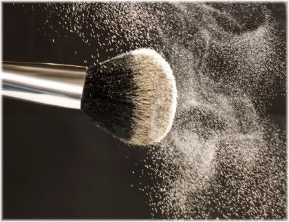powder on foundation brush