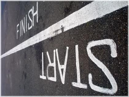 start/finish line