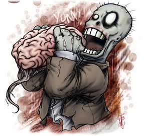monster eating brain