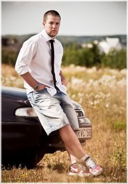man wearing shorts and shirt