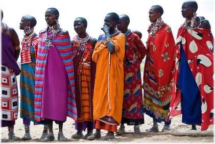 African tribe members