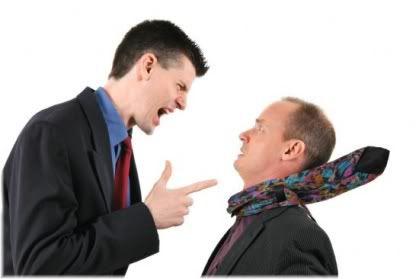 man shouting at another man