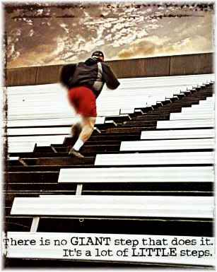 There is no giant step that does it. It's a lot of little steps.