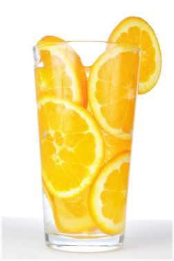 orange slices in glass
