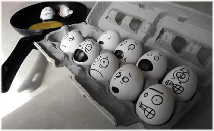 scared eggs