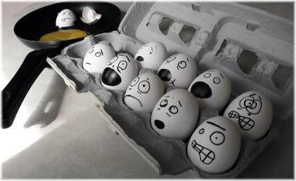 scared eggs