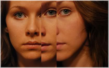 woman three sides of face