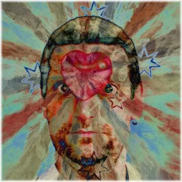 man heart forehead