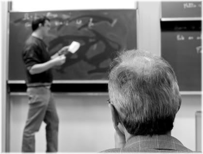 man at lecture board