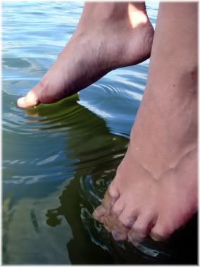 dipping toes in water