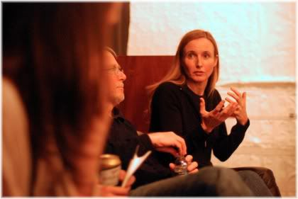 woman talking in meeting