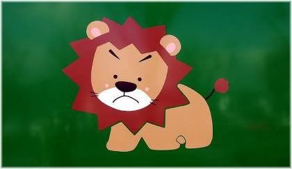 unhappy lion