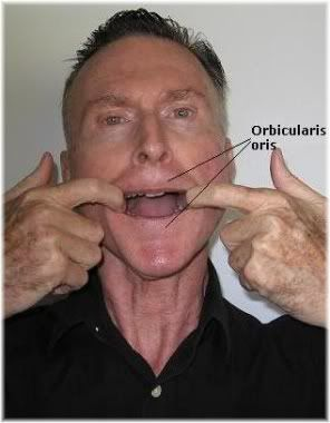 mouth exercise with hands