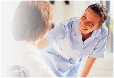 nurse looking after patient