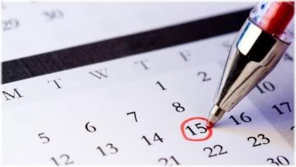date circled on calendar