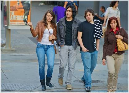 teenagers walking.