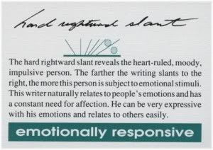 emotionally responsive handwriting