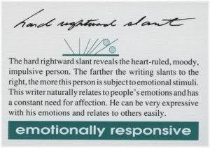 emotionally responsive handwriting