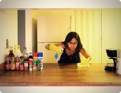 woman cleaning ocd