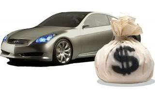 money next to car