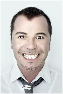 man staring smiling