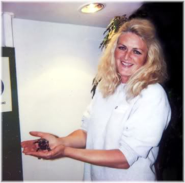 woman holding spider