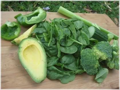 green vegetables & avocado