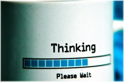 thinking please wait cup